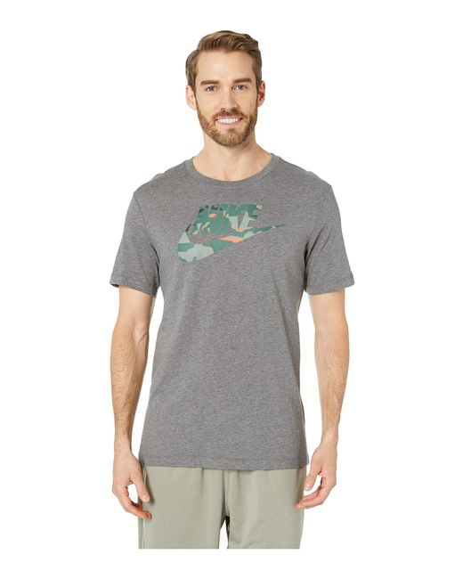 a10233ad Nike Nsw Camo 1 Tee (black/midnight Navy) Men's T Shirt in Gray for ...