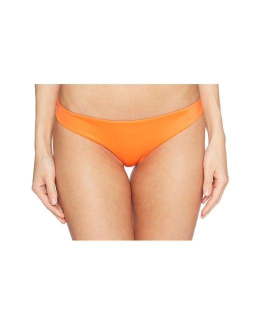 RVCA - Orange Solid Cheeky Bottom (chili) Women's Swimwear - Lyst