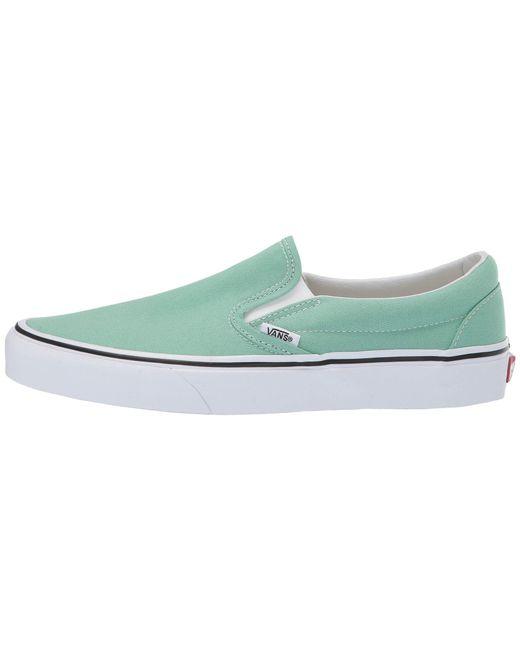 896ccb9e68f ... Vans - Green Classic Slip-ontm ((gingham) Blazing Yellow true White ...