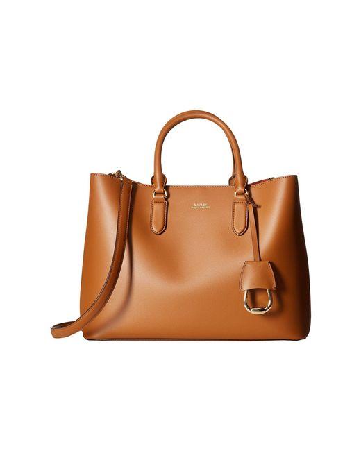 Lauren by Ralph Lauren - Brown Dryden Marcy Satchel Large (taupe/porcini) Satchel Handbags - Lyst