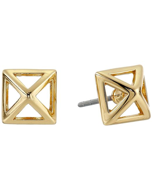 Rebecca Minkoff - Metallic Cutout Stud Earrings - Lyst