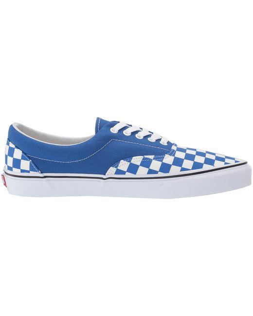 c87e47b25c Lyst - Vans Eratm ((primary Check) Black white) Skate Shoes in Blue ...