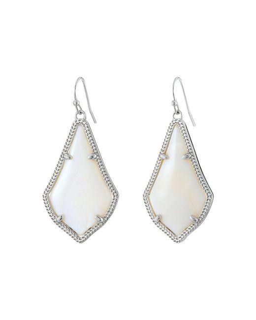 Kendra Scott - White Alex Earring (rhodium/ivory Mother-of-pearl) Earring - Lyst