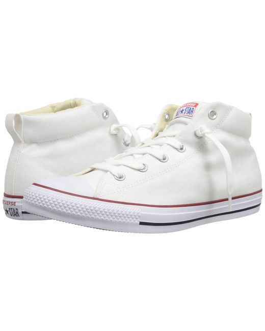 Converse - White Chuck Taylor® All Star® Street Core Canvas Mid - Lyst