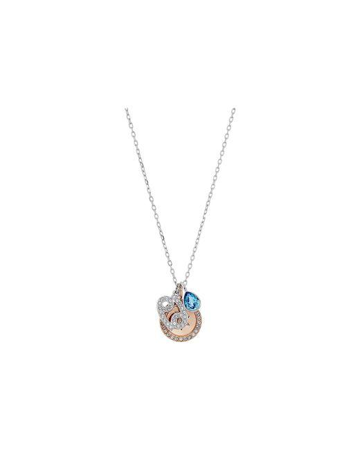 Swarovski - Metallic Zodiac Pendant Cancer Necklace (aqua) Necklace - Lyst