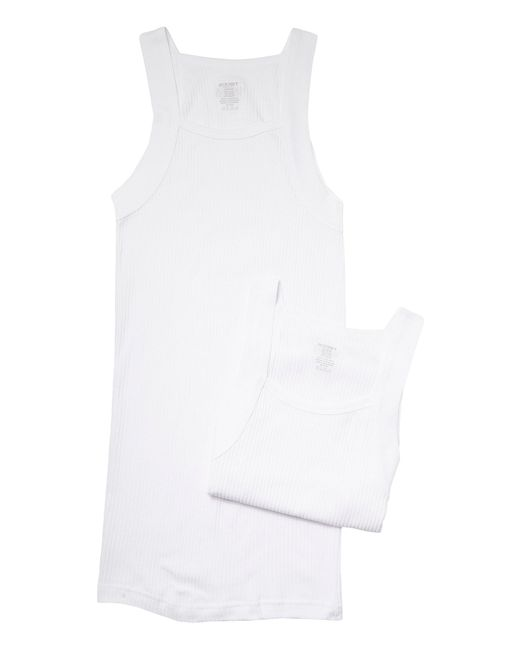 2xist | White 2-pack Essential Square-cut Tank for Men | Lyst