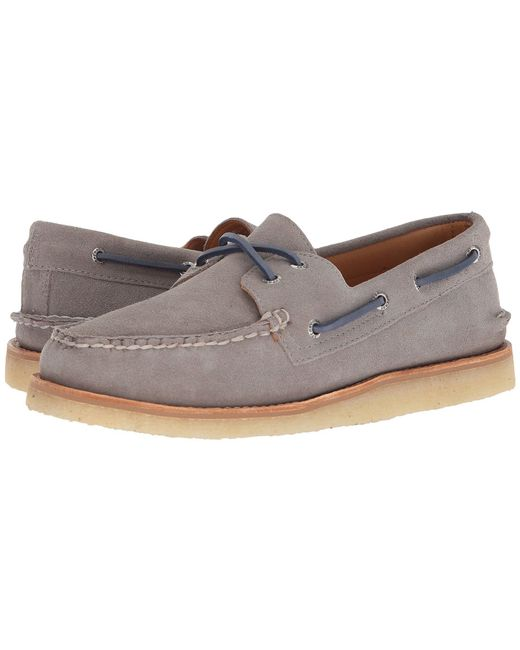 Sperry Top-Sider - Gray Gold A/o 2-eye Crepe Suede (grey) Men's Shoes for Men - Lyst