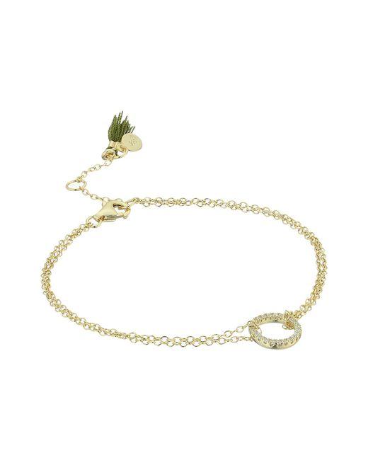 Shashi - Metallic Circle Pave Bracelet (gold/vermeil) Bracelet - Lyst