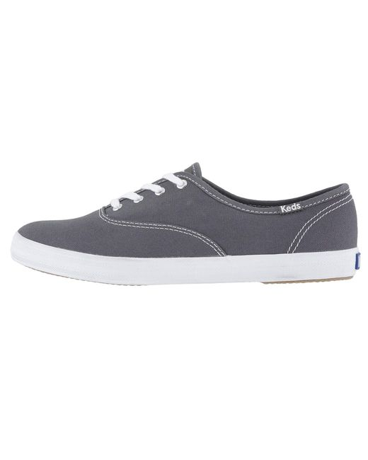 415536e7e ... Keds - Gray Champion-canvas Cvo (graphite) Women s Lace Up Casual Shoes  ...