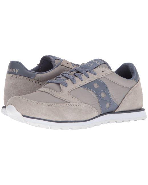Saucony - Gray Jazz Low Pro (grey/white) Men's Classic Shoes for Men - Lyst