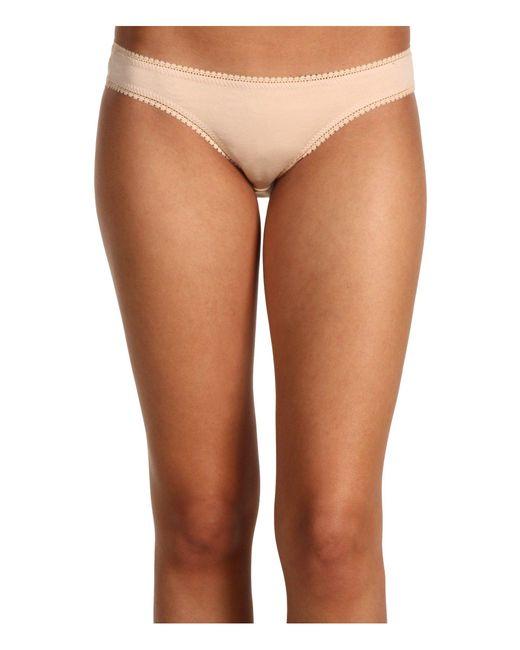 On Gossamer - Multicolor Cabana Cotton Hip Bikini 1402 (champagne) Women's Underwear - Lyst