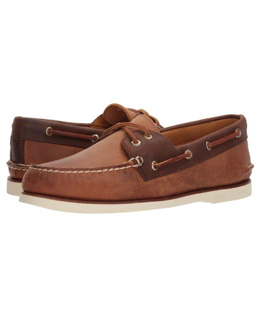 Sperry Top-Sider - Gold A/o 2-eye Roustabout (tan/brown) Men's Shoes for Men - Lyst