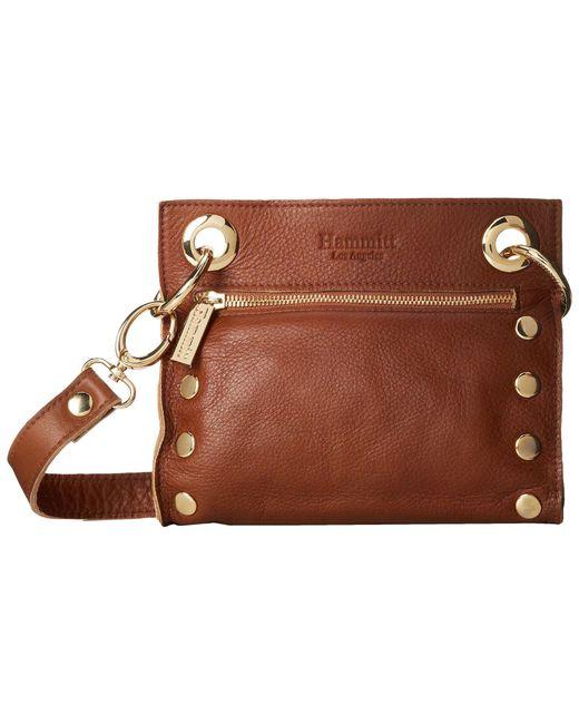 Hammitt - Brown Tony (black/brushed Silver) Cross Body Handbags - Lyst