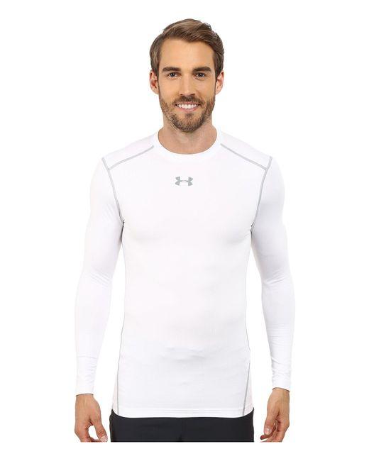 Under Armour - White Ua Coldgear® Armour® Compression Crew for Men - Lyst
