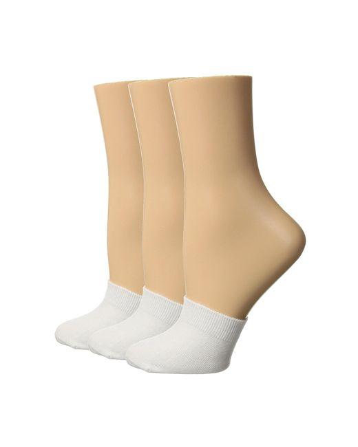 Hue - Cotton Toe Topper 3-pack (white) Women's No Show Socks Shoes - Lyst