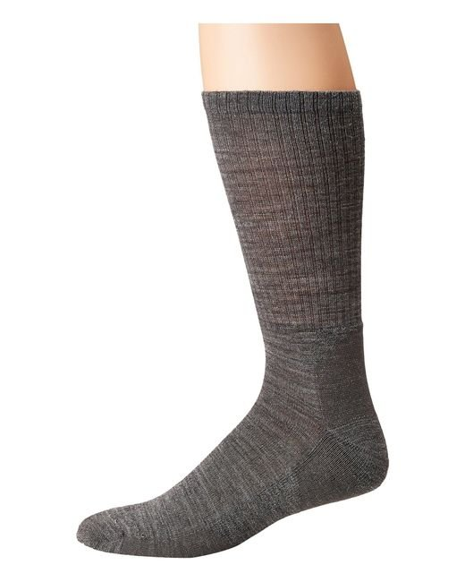 Smartwool - Heathered Rib (medium Gray) Men's Crew Cut Socks Shoes for Men - Lyst