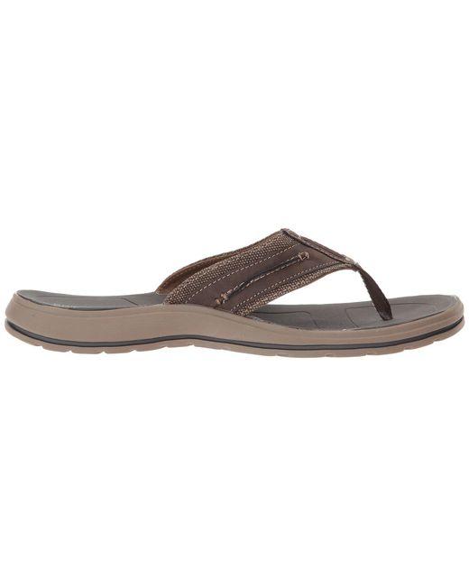 1674dd855 ... Lyst Dockers - Compton Thong Sandal (dark Brown) Men s Shoes for Men ...