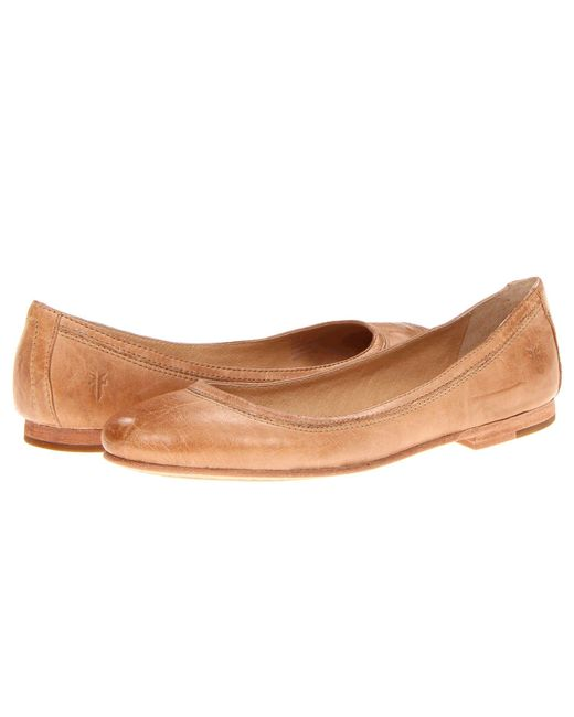 Frye - Natural Carson Ballet (grey Antique Soft Vintage) Women's Flat Shoes - Lyst