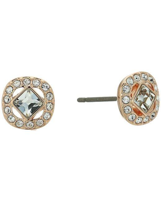Swarovski - Multicolor Angelic Pierced Earrings (white) Earring - Lyst