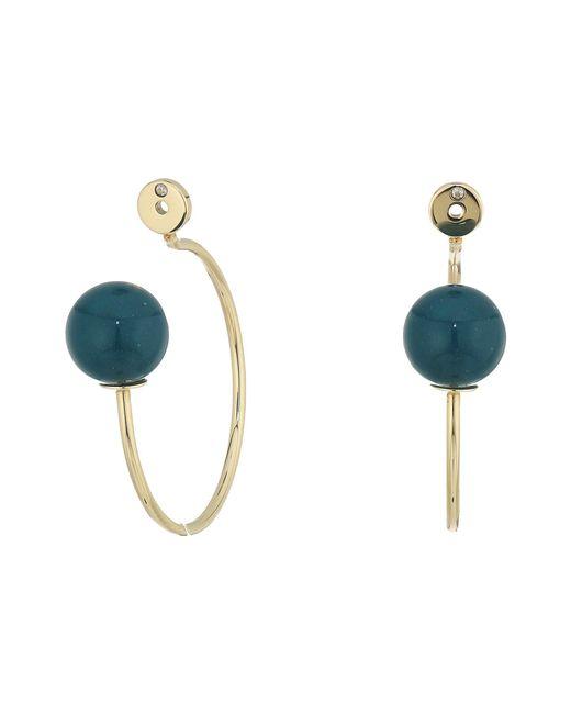 Fossil - Metallic Glass Hoop Earrings - Lyst