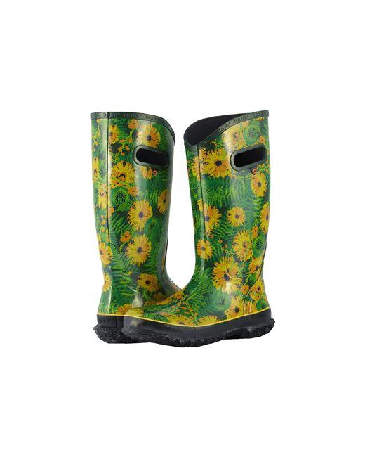 Bogs - Green Rainboot Living Garden (blue Multi) Women's Rain Boots - Lyst