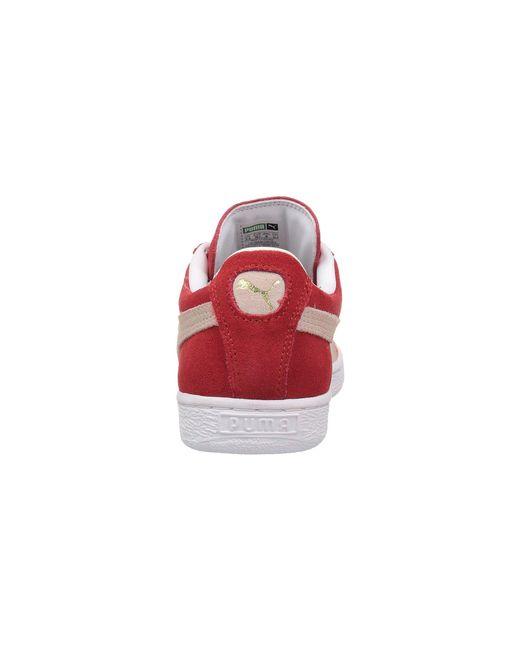Lyst - PUMA Suede Classic (high Risk Red white) Women s Shoes in ... 3c02293ec5