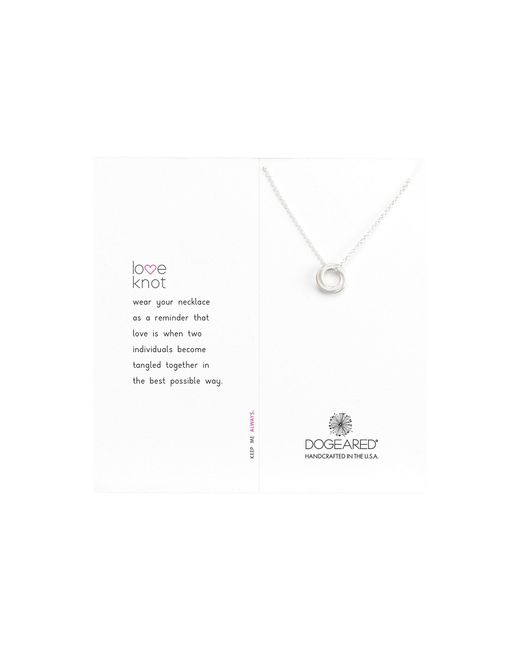 Dogeared - Metallic Love Knot Necklace - Lyst
