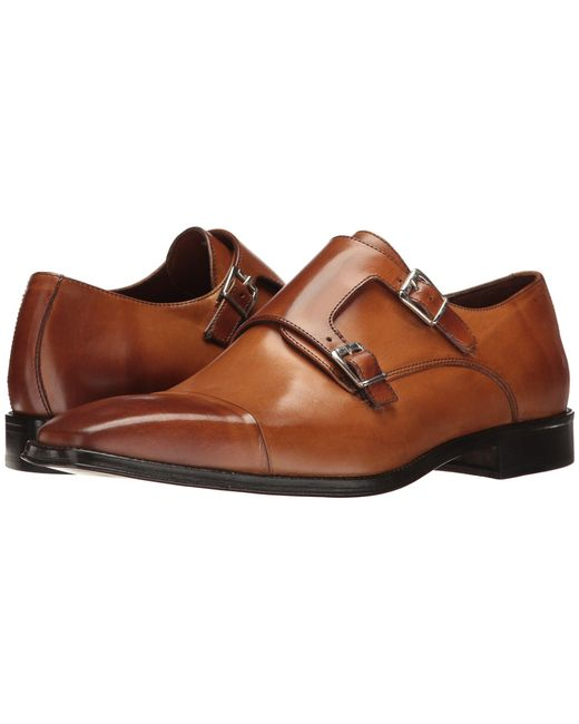 Massimo Matteo - Brown Dbl Monk Cap Toe for Men - Lyst