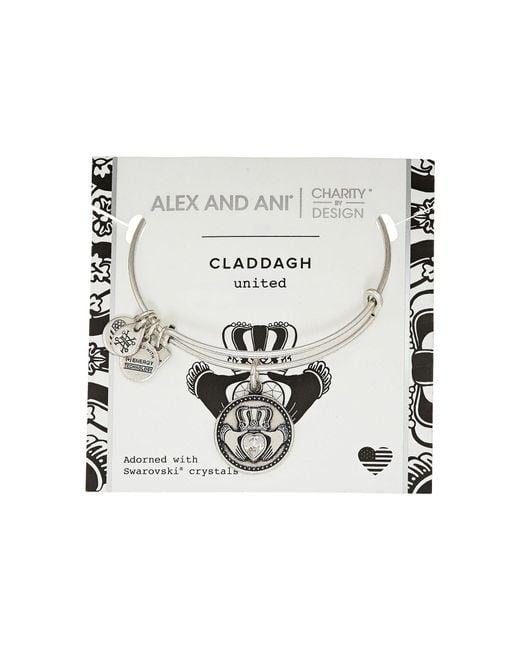 ALEX AND ANI - Metallic Charity By Design Claddagh Bangle - Boston Celtics Shamrock Foundation (rafaelian Gold) Bracelet - Lyst