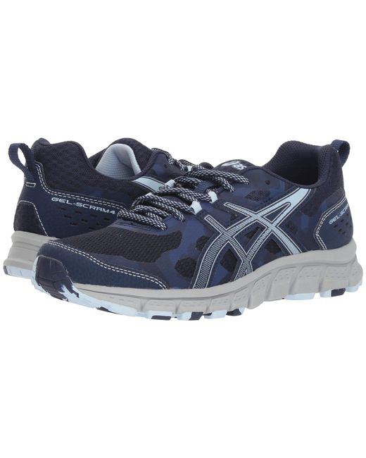 Asics - Blue Gel-scram 4 (mid Grey/lagoon) Women's Running Shoes - Lyst