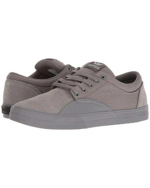 Supra - Gray Chino (navy/white) Men's Skate Shoes for Men - Lyst