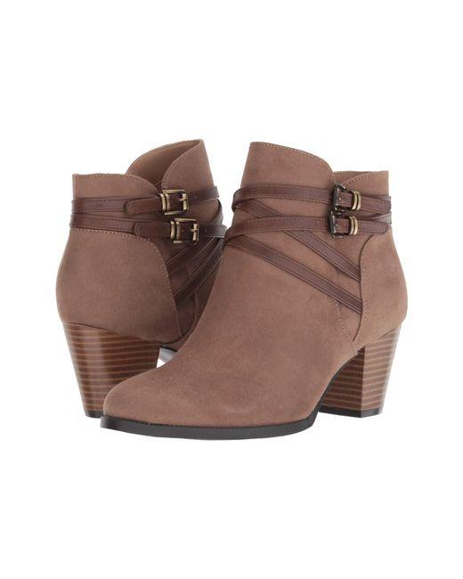 9dfa4de6c664 Lyst - LifeStride Jezebel (tan Dusty) Women s Boots in Brown