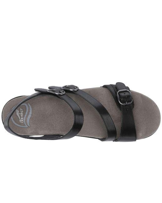 c1c6fdffba40 Lyst - Dansko Sacha (tan Burnished Calf) Women s Dress Sandals in Black
