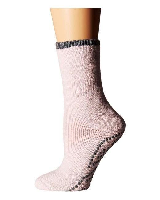 Falke - Pink Cuddle Pad Sock (silver) Women's Crew Cut Socks Shoes - Lyst