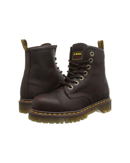 Dr. Martens - Brown 7b10 St 7 Eye Boot (bark) Work Boots - Lyst