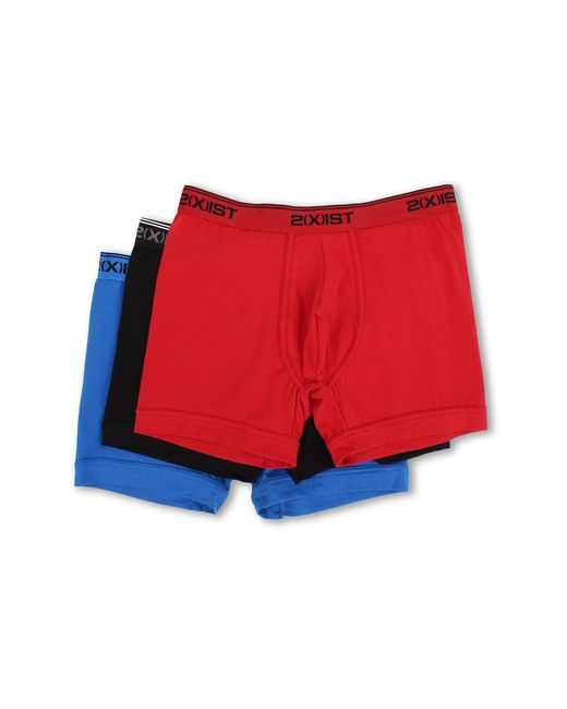 2xist | Red Stretch 3 Pack Boxer Brief for Men | Lyst