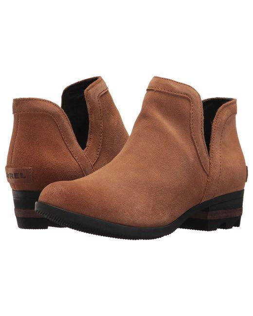 Sorel - Brown Lolla Cut Out (light Raisin/black Suede) Women's Shoes - Lyst