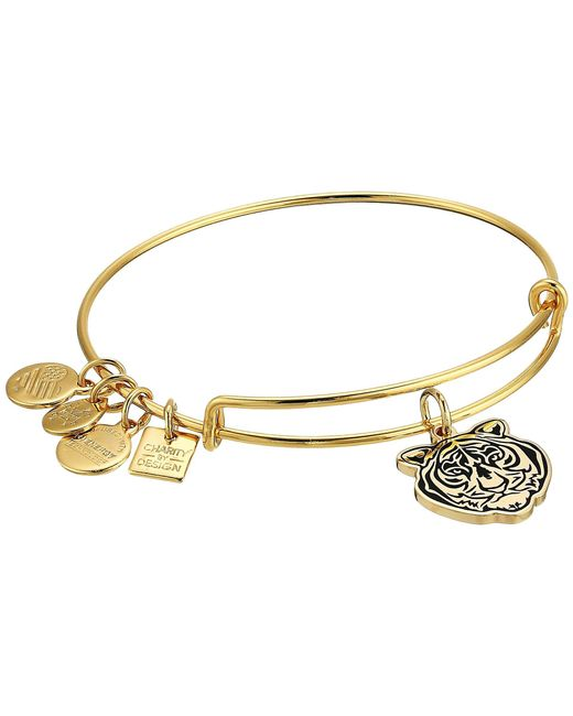 ALEX AND ANI - Metallic Charity By Design Tiger Head Bangle (shiny Gold) Bracelet - Lyst