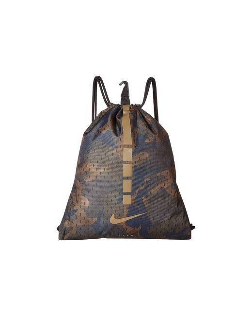 Nike - Hoops Elite Gymsack 2.0 - All Over Print (cargo Khaki/black/yukon Brown) Backpack Bags - Lyst