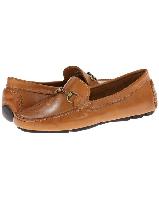 Massimo Matteo - Brown Driver With Bit (tan Bison Brushed/gold Bit) Women's Moccasin Shoes - Lyst