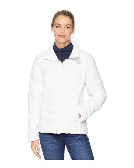 The North Face - White Aconcagua Jacket Ii (shiny Mid Grey) Women's Coat - Lyst