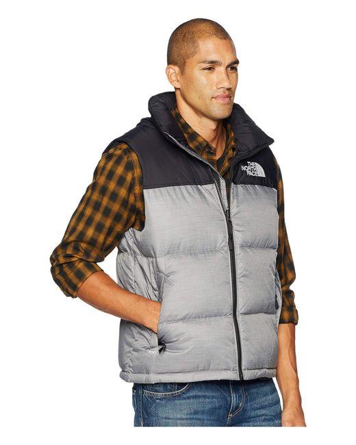 9c26db0bc8 ... The North Face - Gray 1996 Retro Nuptse Vest (aztec Blue) Men s Vest  for ...