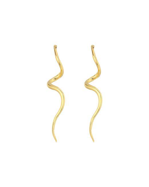 Kenneth Jay Lane - Metallic Polished Gold Swirl Post Earrings (gold) Earring - Lyst