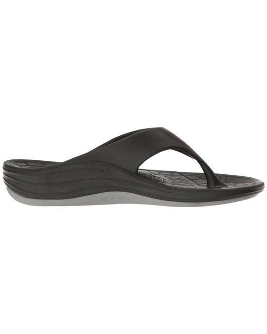 e66c00634058 Lyst - Aetrex Lynco Flip (navy) Men s Sandals in Black for Men