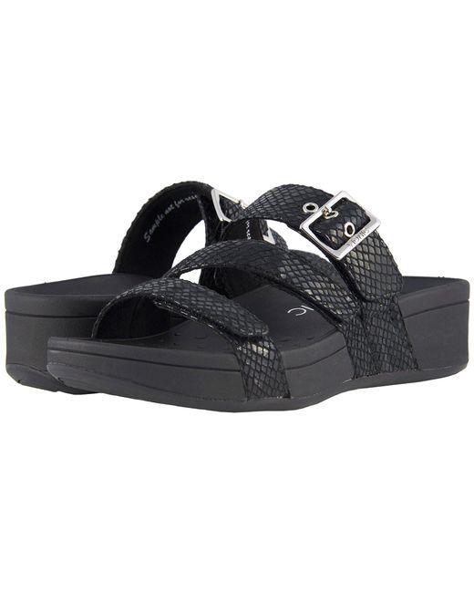 Vionic - Rio (black Snake) Women's Sandals - Lyst