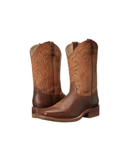 Dan Post - Lindberg (dark Brown/saddle Tan) Cowboy Boots for Men - Lyst