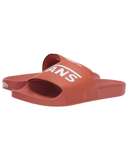 f22c6839a96e Lyst - Vans Slide-on ((checkerboard) White) Slide Shoes in Red for Men