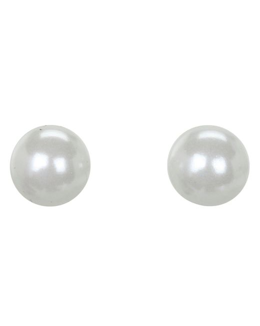 Lauren by Ralph Lauren - White 10mm Pearl Stud - Lyst