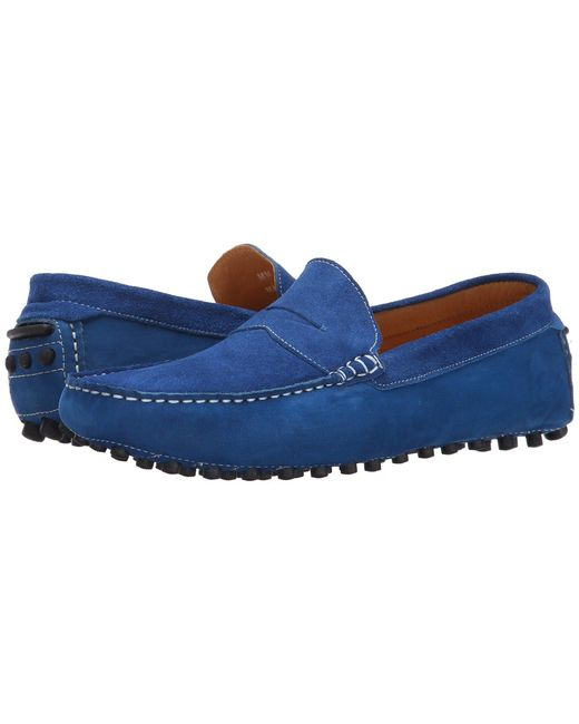 Massimo Matteo - Blue Suede Nubuck Penny for Men - Lyst