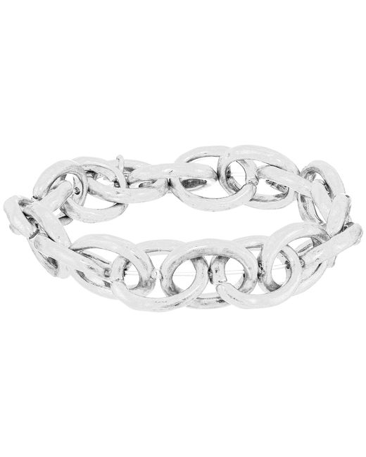 The Sak - Metallic Link Stretch Bracelet (silver) Bracelet - Lyst